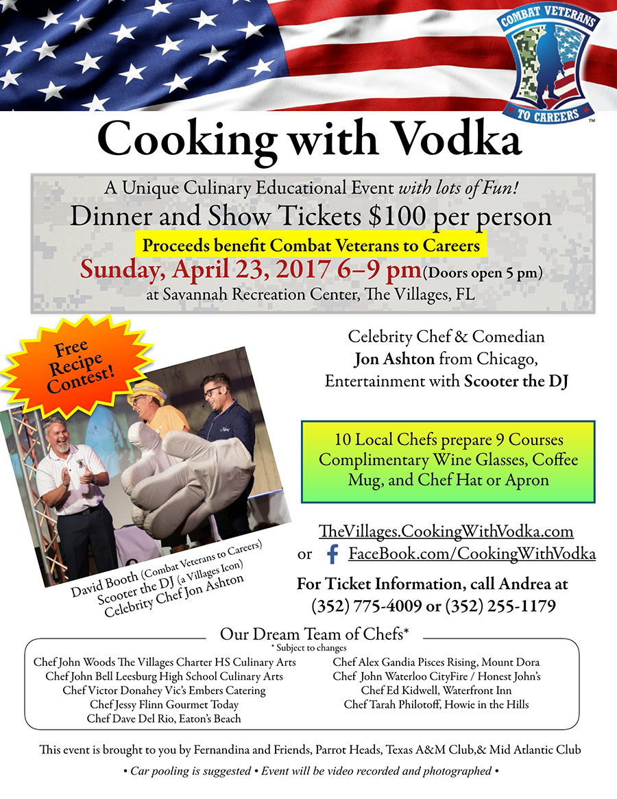 Cooking with Vodka flyer