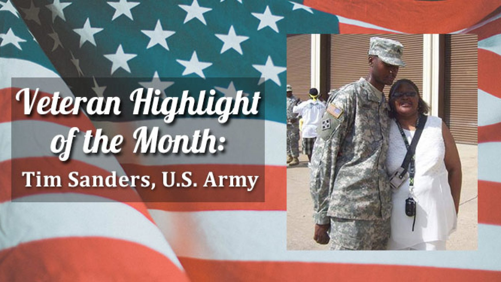 Veteran Highlight of the Month: Tim Sanders