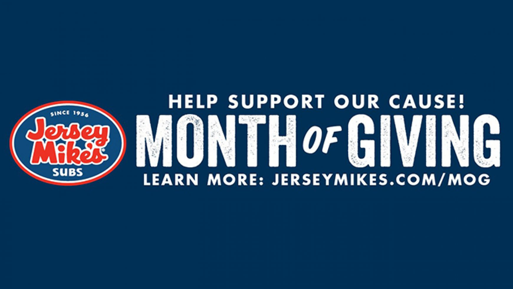 Take Part in Jersey Mike's Subs' Month of Giving Benefiting CVC!