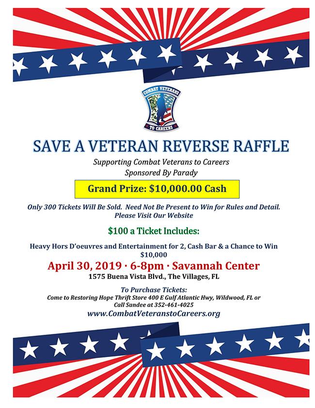 Save a Veteran Reverse Raffle 2019