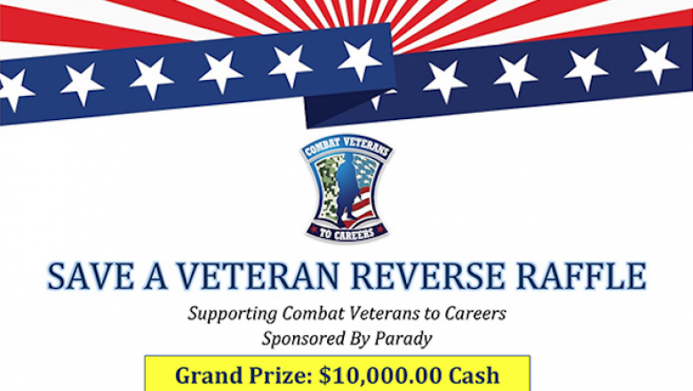 Tickets Now Available for the 2019 Save a Veteran Reverse Raffle