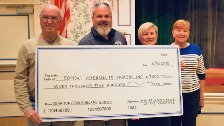 Mid-Atlantic Club of The Villages Donates $7,500 to Combat Veterans to Careers
