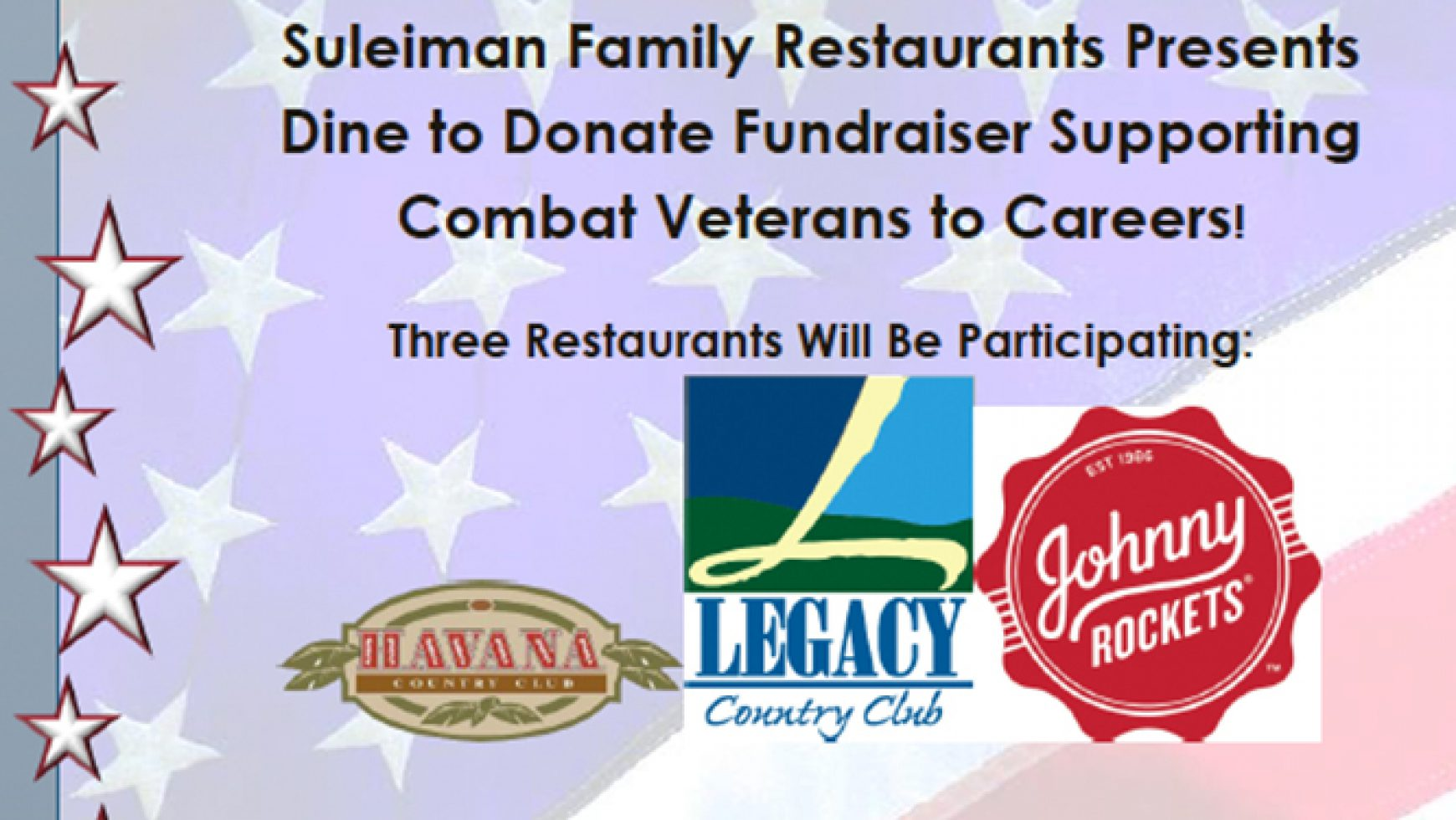 Suleiman Family Restaurants Hosts Dine to Donate Events Benefiting CVC