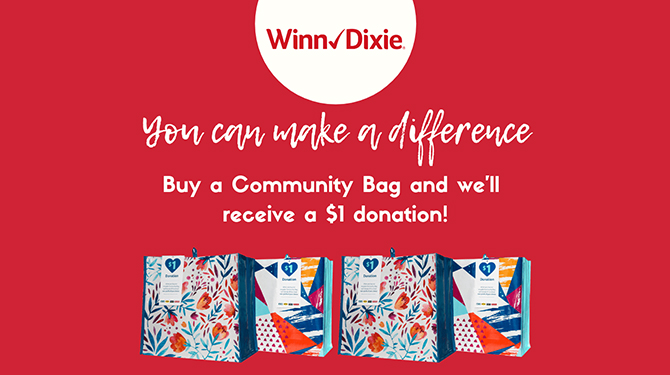 CVC Selected for Winn-Dixie's November Community Bag Program!