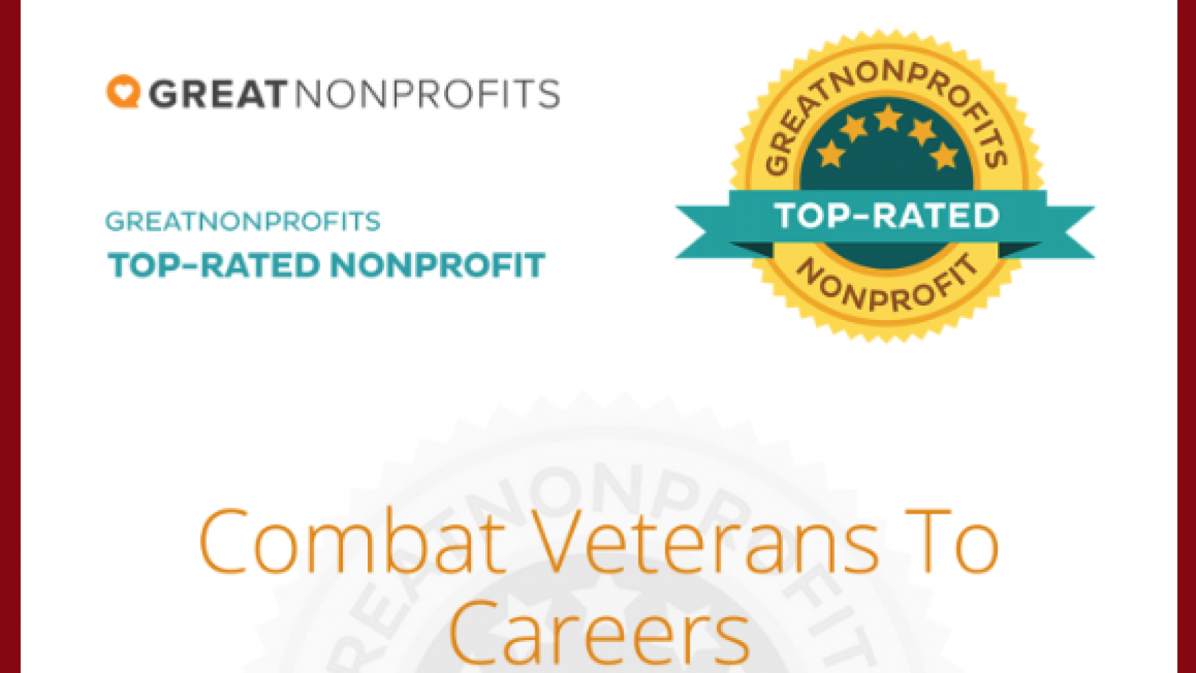 CVC Wins 2020 Top-Rated Award from GreatNonprofits