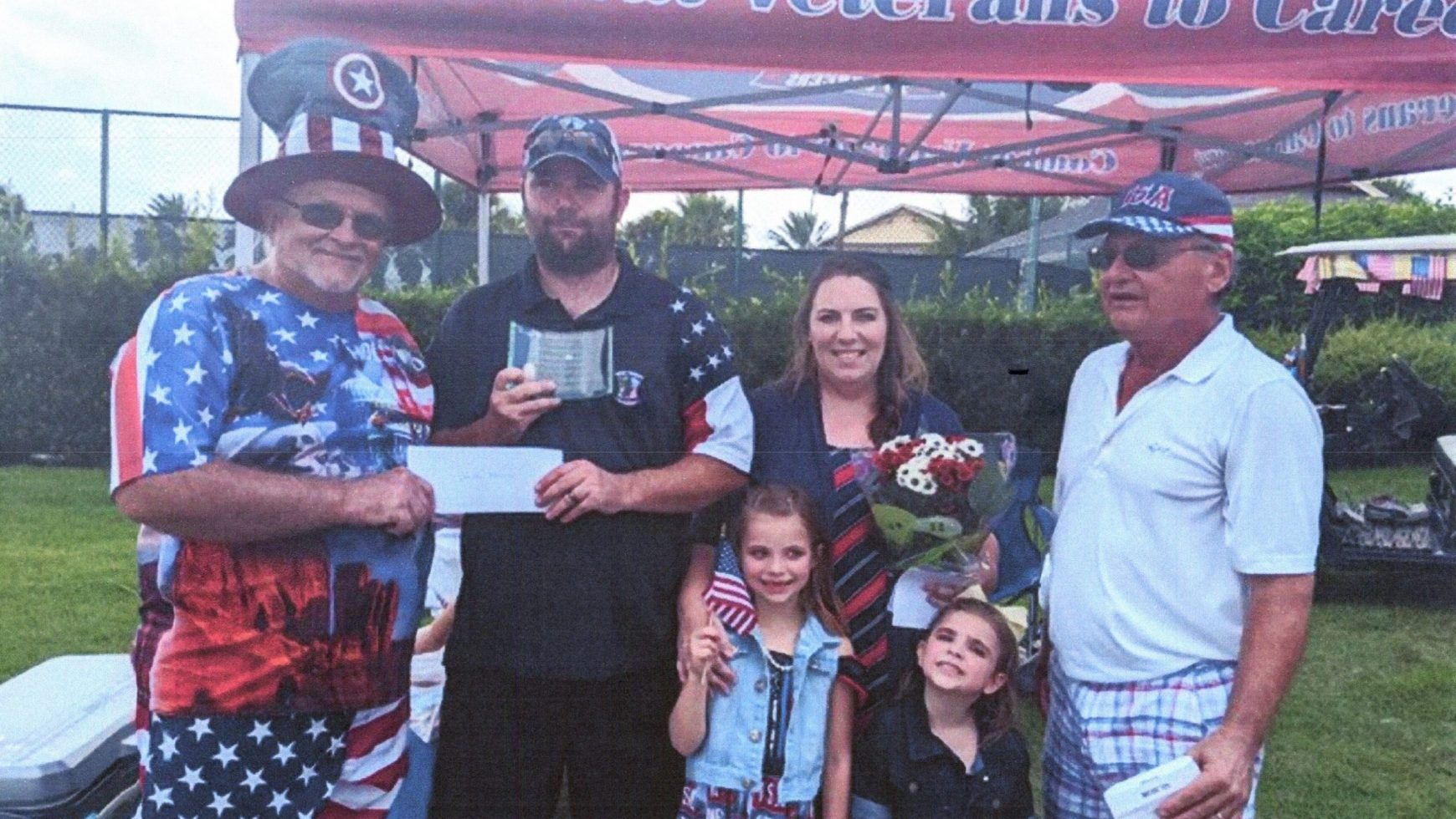 Fernandina & Friends Donates $5k to CVC Veteran