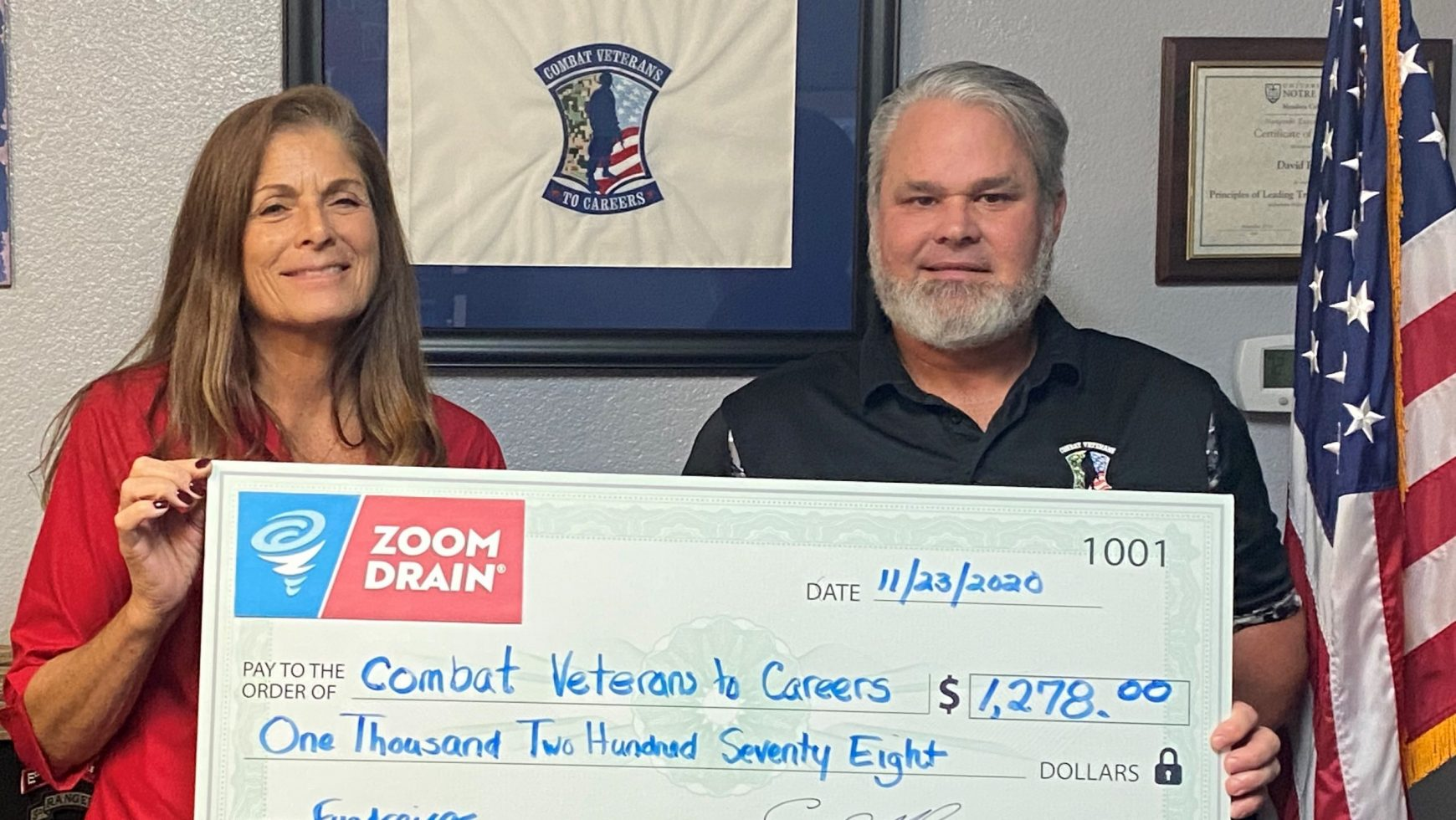 ZOOM Drain of Central FL Donates to CVC